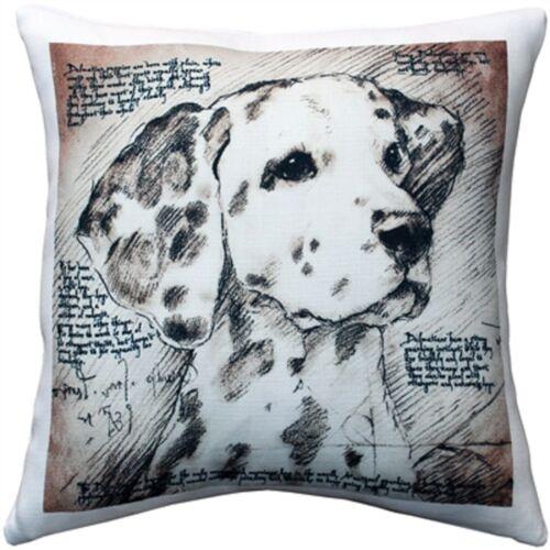 "DalmatianThrow Pillow Gorgeous 17"" x 17"" has washable cover"