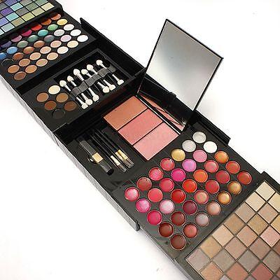 Pro 177 Color Eyeshadow Palette Blush Lip Gloss Makeup Beauty Cosmetic Set Kit