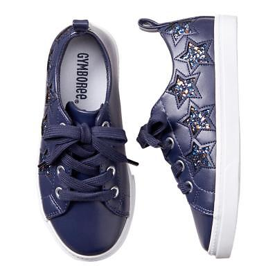 NWT Gymboree Spring Forward Girls Navy Blue Star Sparkle Sneakers Shoes many sz