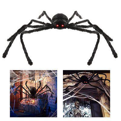 4 ft Large Halloween Spider Haunted House Prop Indoor Outdoor Party Garden Decor