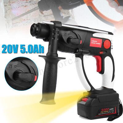 20v Cordless Rotary Hammer Drill Sds Concrete Breaker 3.0ah Li-ion Battery