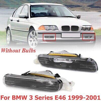 Pair Front Bumper Fog Light  For BMW E46 323i 325i 328i 330i 3 Series 1999-2001