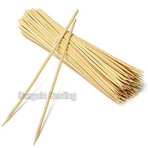 Bamboo Skewers Sticks 100pc For BBQ Kebab Fruit Wooden Sticks 12Inch