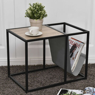 Living Room Steel Accent Table (End Table Side Accent Metal Magazine Organizer Living Room Office )