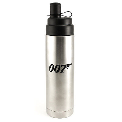 007 Stainless Steel Case - James Bond 007 Rare Stainless Steel Canister/Bottle w/ Carrying Case NEW