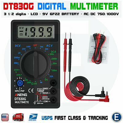Dt 830g Dt830g Digital Multimeter Electric Voltmeter Ammeter Ohm Mini Tester
