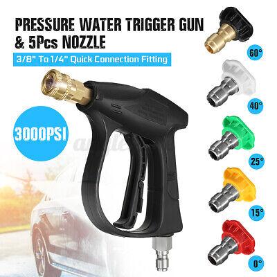 3000psi High Pressure Washer Gun Adapter Water Jet W 5pcs Spray Nozzle Tip 38