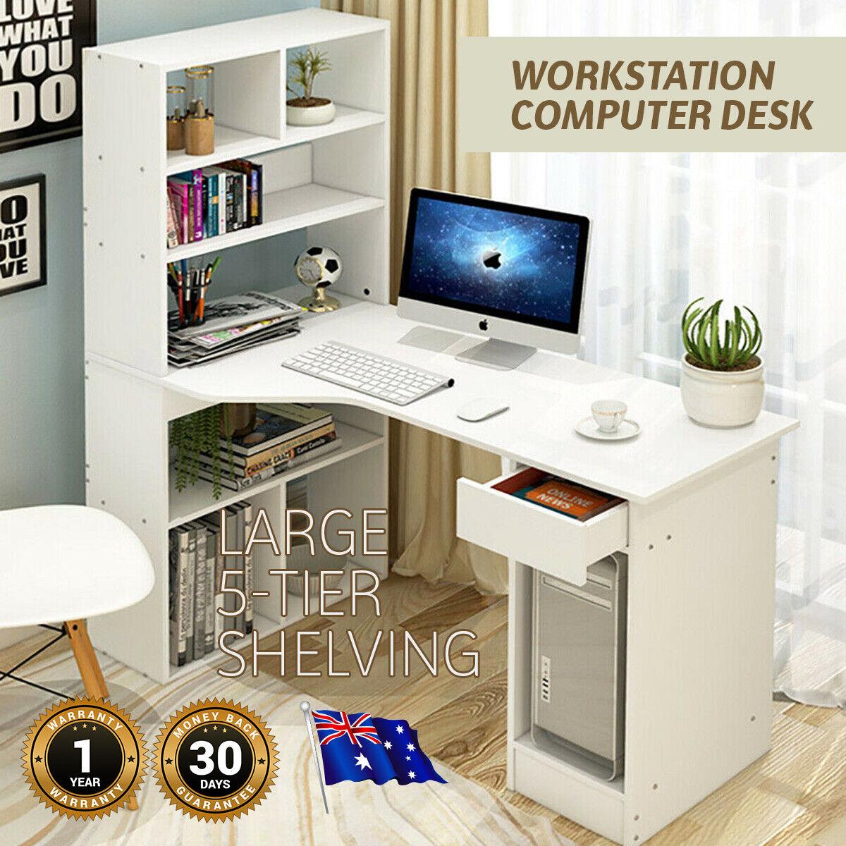 Awesome Details About Computer Desk Workstation Large Combo Home Office Desks Home Office Furniture Home Interior And Landscaping Ferensignezvosmurscom