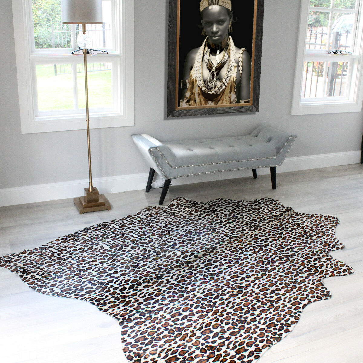 Leopard Cowhide Rug High Quality Cowhide Rug For Sale 634480388756 Ebay