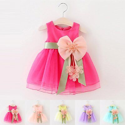 New Flower Girl Princess Dress Kid Baby Party Wedding Pageant Tulle Tutu Dresses - Girls Dresses Winter