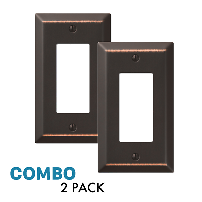 2-Pack Rocker GFCI Outlet Switch Toggle Wall Plate, Oil Rubbed Bronze Electrical Outlets, Switches & Accessories