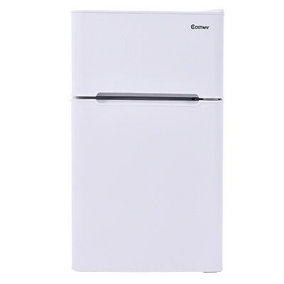 Stainless Steel Refrigerator Small Freezer Cooler Fridge Compact 3.2 cu ft. Unit