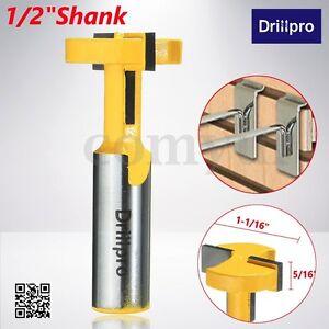 Drillpro 1/2'' Shank Router Bit T-Slot & T-Track Slotting Tenon Cutter Tool