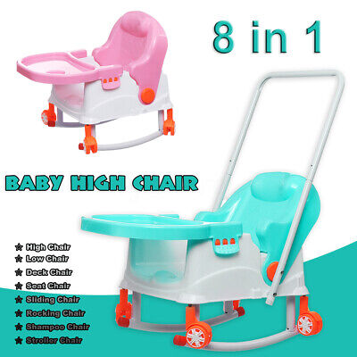 8 in 1 Baby High Chair Convertible Play Table Seat Booster Toddler Feeding  USA