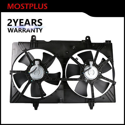 Dual Radiator Cooling Fan - Front Dual Radiator Cooling Fan Assembly For 04-09 Nissan Quest 3.5L V6 DOHC