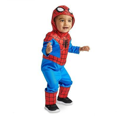 NWT Disney Store Spider Man Costume for Baby Sz 18-24 Mos NEW