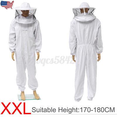 2xl Beekeeper Protector Bee Keeping Suit Jacket Veil Hat Body Equipment Hood