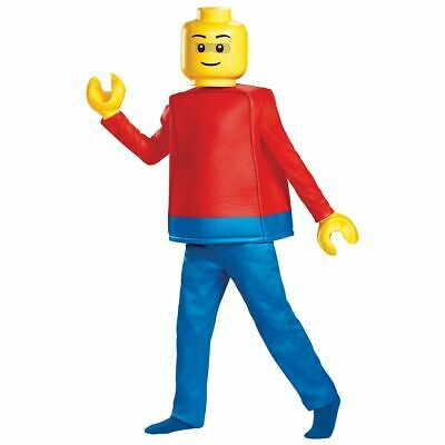 LEGO Guy Minifigure Kids DELUXE LEGOLAND Costume - Pants,Top, Mask, Hands -S,M,L