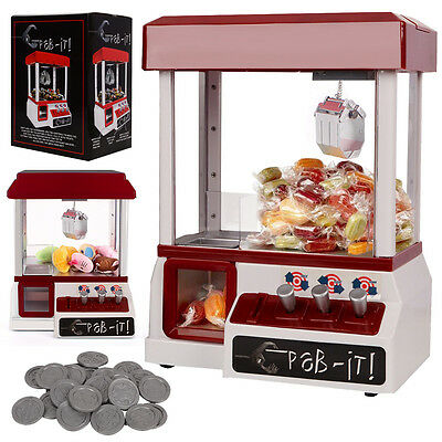 Candy Grabber Machine Desktop Sweet Toy Claw Arcade Game Party Kids Gift Music