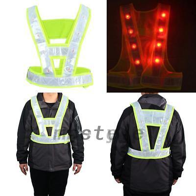 Led Light Safety Vest With Reflective Stripes Traffic Warning Vests Useful New