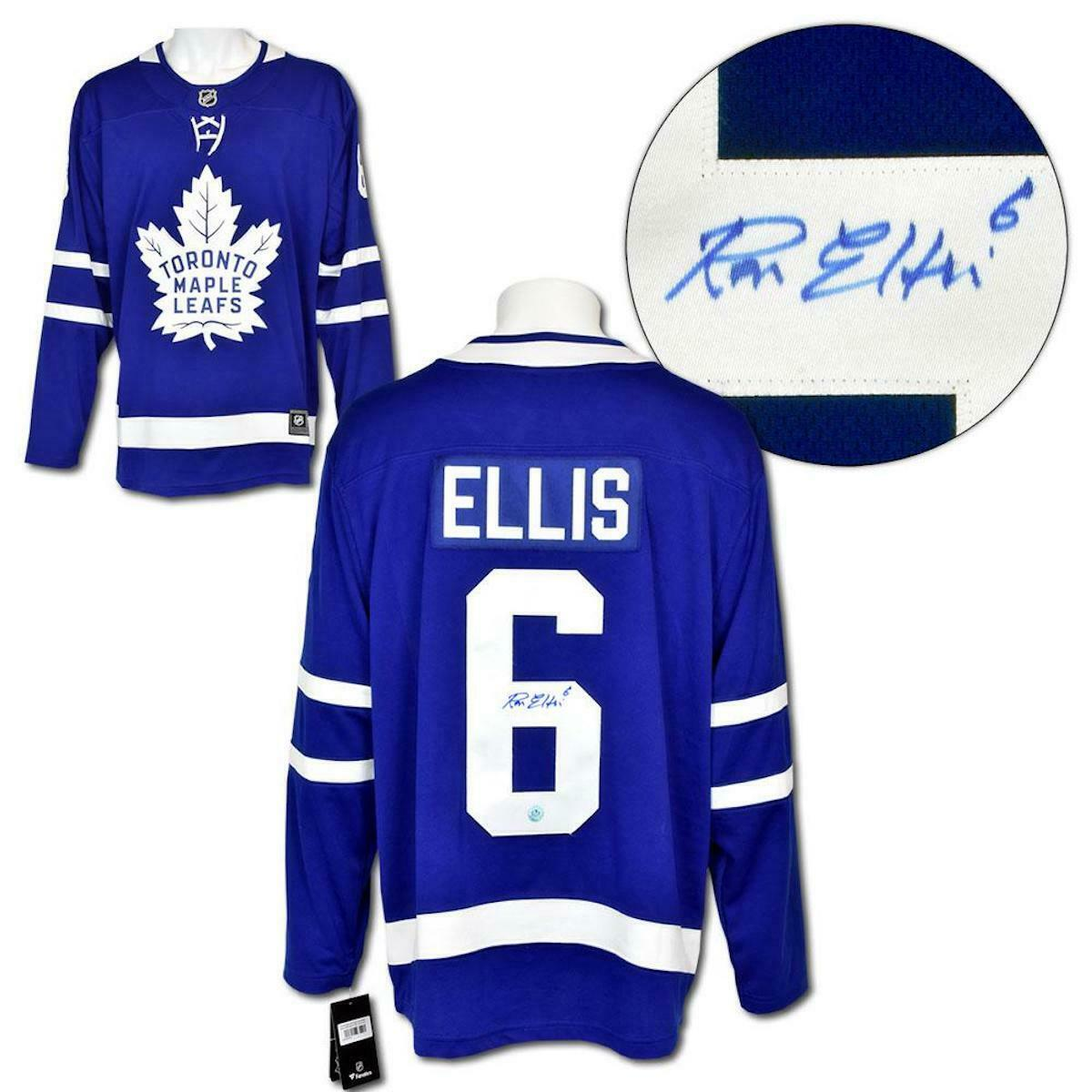 reputable site 71bf7 4c2d3 Details about Ron Ellis Toronto Maple Leafs Autographed Fanatics Replica  Hockey Jersey