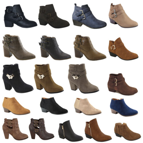 Boots - Womens High Heels Booties Ankle Boots Lace Up fashion low Shoes Wedge Size Pumps