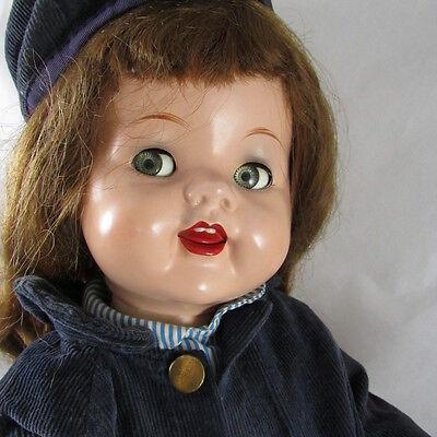 "22"" Saucy Walker Doll Hard Plastic Ideal 1950s Vintage Flirty Eyes"