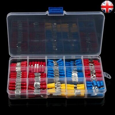 280 ASSORTED INSULATED ELECTRICAL WIRE TERMINALS CRIMP CONNECTORS SPADE KIT HOK