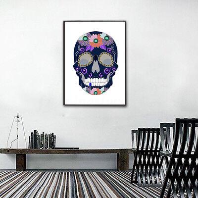 DIY 5D SKULL Diamond Painting Embroidery Cross Crafts Stitch Kit Halloween Decor