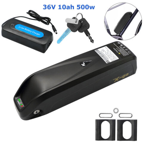 36V 10Ah 500W HaiLong Lithium Battery Pack Charger Kit E-Bike Electric Bicycle
