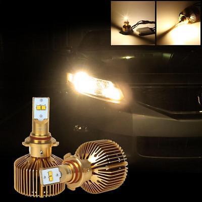 9000LM H10 9005 HB3 Headlight High Beam Adjustable Xenon 3000K 90W LED