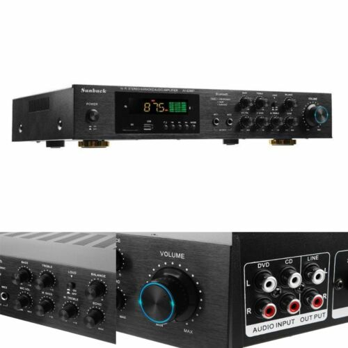AV628BT 1120W 5CH Bluetooth 4ohm Stereo Surround Power Amplifier Audio Kit New