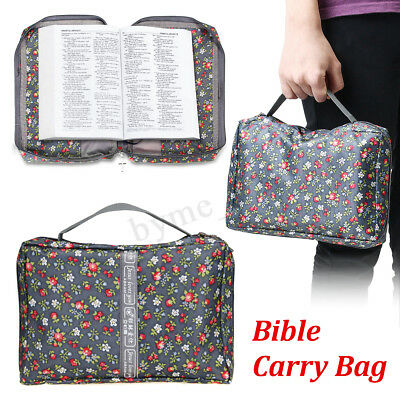 Large Bible Study Book Holy Cover Case Tote Carry Bag Protective Canvas