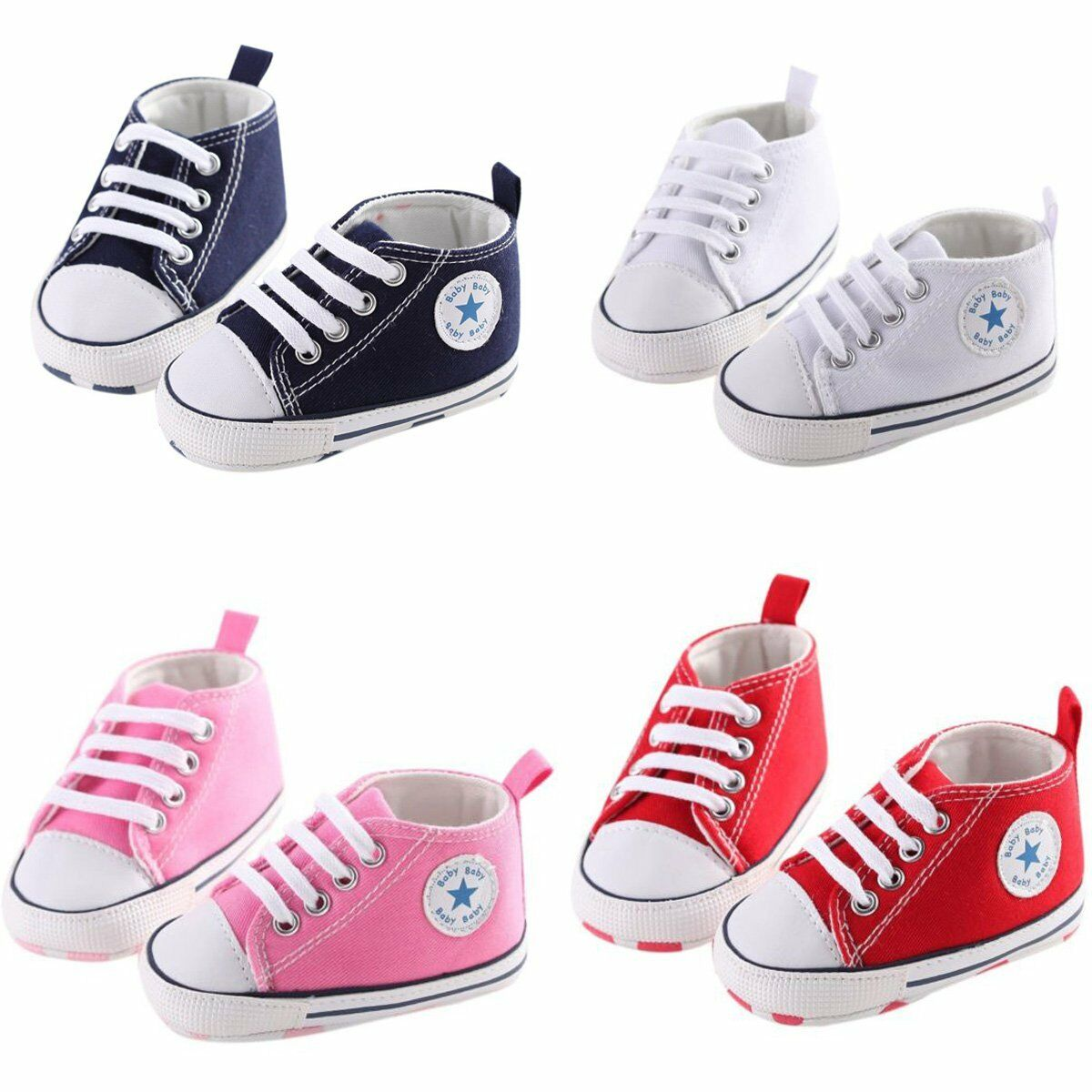 Toddler Boy Shoes Sneaker Sole 0-18 Months Soft Crib Girl Ne