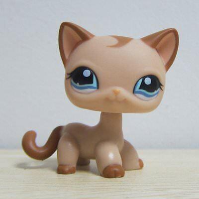 Hasbro Littlest Pet Shop Collection LPS Loose Toys Tan Short Hair Kitty Cat RARE