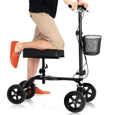 Foldable Knee Walker Steerable Knee Scooter Medical W/ Brake