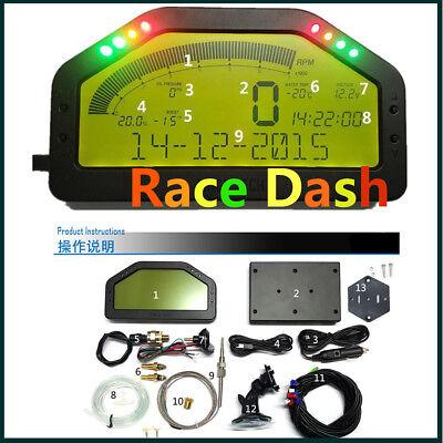 12V DO904 Car Dashboard LCD Screen Rally Gauge   Dash Race Display DPU Sensors