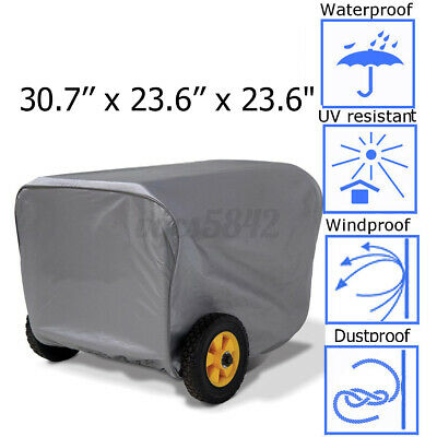 For Champion Power Generator Portable Storage Cover Weather Dustproof Large Gray