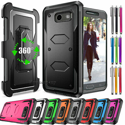 Shockproof Hybrid Phone Case Cover for Samsung Galaxy J3 Emerge /Luna Pro /Prime