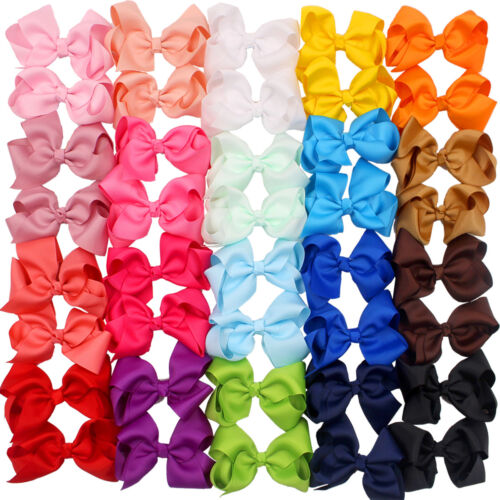 """40 Pcs in Pairs 4.5"""" Boutique Hair Bows Alligator Clips For"""