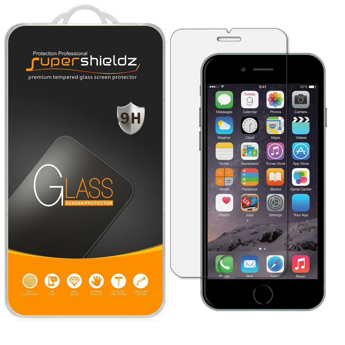 Supershieldz Ballistic Tempered Glass Screen Protector for A