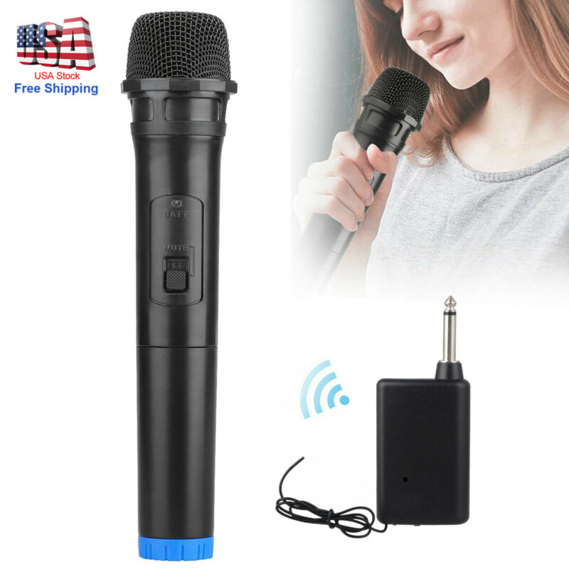 Professional Handheld Wireless Karaoke Microphone Mic with VHF Receiver Black US