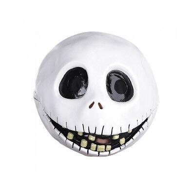 Jack Skellington Latex Mask Gloves Halloween Nightmare Before Christmas Costume](Jack Skellington Latex Mask)