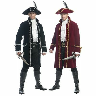 ADULT MENS COLONIAL RUTHLESS PIRATE PRINCE COSTUME COAT JACKET CAPTAIN HOOK  (Pirate Adult Costume)