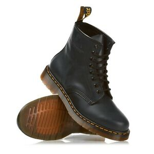 Dr Doc Martens 1460z 8 Eyelet Boots In Black / Cherry Red Sizes 3 / 15