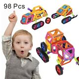 98Pcs Magical Magnet Building Blocks Educational Toys For Kids Colorful Gift Set