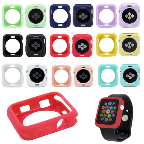 Removable TPU Silicone Protective Case Cover For Apple Watch iWatch Series 3 2 1