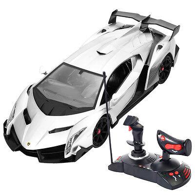1 14 Lamborghini Veneno Electric Sport Radio Remote Control Rc Car Gray Kids Toy