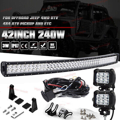 "42inch 240W LED Light Bar Flood Spot Offroad Driving Fog Truck Ford 4WD 40"" 12V for sale  Canada"