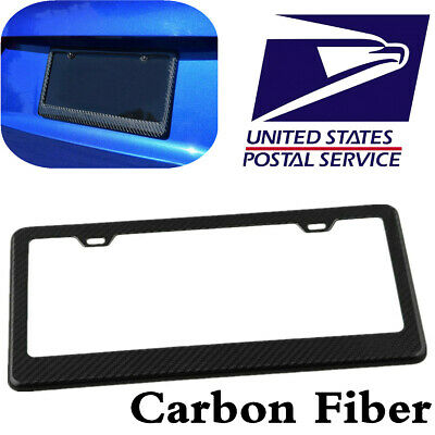 1Pc Twill Real Carbon Fiber Car License Plate Frame for U.S/Canada Standard Size